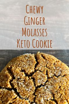 keto cookies Chewy Ginger Molasses Keto Cookie will be your best holiday cookie you will make year after year. Made with a touch of molasses and all the ginger. Low Carb Keto cookie just what you need for that holiday treat. Keto Cookies, Cookies Healthy, Chip Cookies, Brownie Cookies, Shortbread Cookies, Low Carb Sweets, Low Carb Desserts, Low Carb Recipes, Pork Recipes