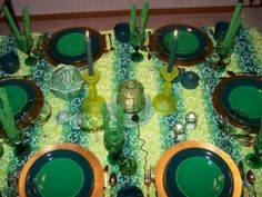 St. Patrick's Day decorations for your dinner table can be as simple as a green color theme, or as elaborate as coordinated Irish tableware.    This...