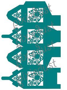Mariposa linterna Favor caja o caja de regalo: SVG por bypixiedust                                                                                                                                                                                 Más