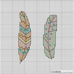 How cute are these feathers from Cross Stitcher? Download them for free here: http://crossstitcher.themakingspot.com/sites/crossstitcher.themakingspot.com/files/attachments/xst268.web_trend_0.pdf