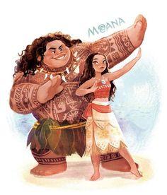 #Moana #Vaiana #Dessin #Fanart crownest_zao #VaianaLaLégendeDuBoutDuMonde