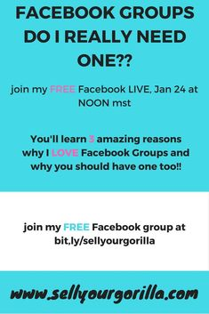 Facebook Groups!! Do I really need one?  I'll share with you my top 3 reasons why I LOVE Facebook groups! Free Facebook, How To Make Money, Engagement, Group, Learning, My Love, Tips, Teaching, Engagements