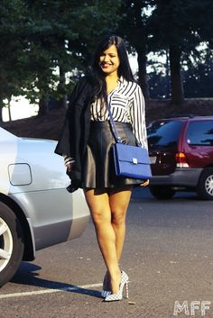 My Fashion Fixes: Faux Leather Skirt!