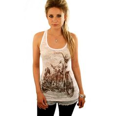 Ivory Harley tank top