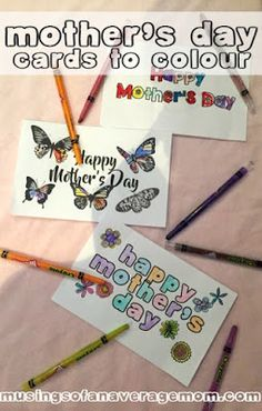 Free printable mother's days to colour.