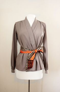 Vintage 1970s 80s Wrap Blouse by Patty by CutandChicVintage, $45.00