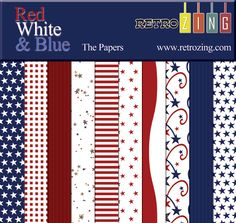 "Red White & Blue - The papers ✿ Join 7,300 others. Follow the Free Digital Scrapbook board for daily freebies. Visit GrannyEnchanted.Com for thousands of digital scrapbook freebies. ✿ ""Free Digital Scrapbook Board"" URL: https://www.pinterest.com/sherylcsjohnson/free-digital-scrapbook/"