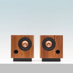 Fern & Roby Cube Speakers were constructed using heart pine beams salvaged from a late 19th-century Virginia factory.