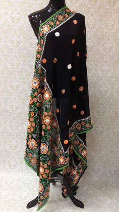 "This beautiful ""fully handmade"" phulkari with legendary ethnic Bagh/Jaal Embroidery dupatta has all the aura and fragrance from the legends and culture to give you that impeccable gorgeous persona and"