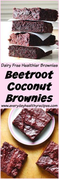 Beetroot Coconut Brownies #beets #beetroot #coconut #brownie #dessertrecipes #chocolate #chocolatecake #dairyfree #easyrecipe #veggielove