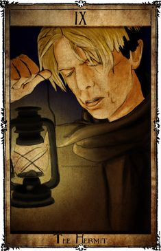 IX - The Hermit - Bowie Tarot Collection - If you love Tarot, visit me at www.WhiteRabbitTarot.com