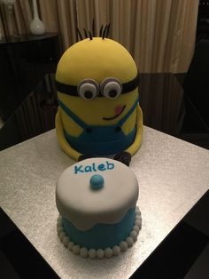 A Minion cake copied from a photo supplied to me.