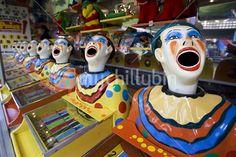 Fairground laughing clowns