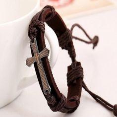 Handmade Braid Genuine Leather Bracelet