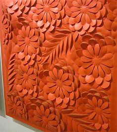 leather relief sculpture