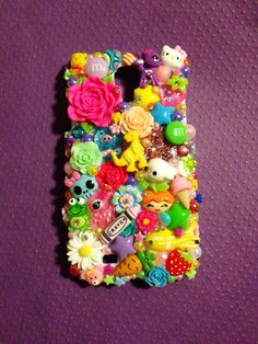 Samsung Galaxy S4 Kawaii Rainbow Bright  Decoden by KreativeKoala on Etsy