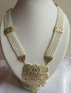Rani Haar In Emeralds With Earrings/ 3 Layer Raani by Beauteshoppe