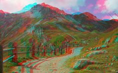 3-D Glasses needed to see picture properly... anaglyph. 3-D Art. image 3d anaglyphe -