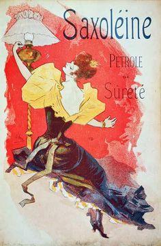 Jules Chéret - Poster advertising 'Saxoleine', safety lamp oil