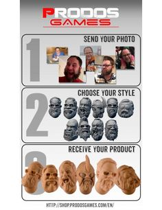 3D Render and Design your own head