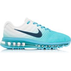 Nike Air Max 2017 Running Shoes (1.710 ARS) ❤ liked on Polyvore featuring shoes, athletic shoes, blue, lace up shoes, running shoes, laced up shoes, blue shoes and blue running shoes