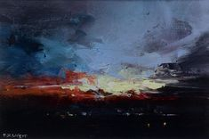 City Sky - Acrylic on Paper City Sky, Cityscape Art, Sunset Art, Sheffield, Landscape Paintings, Sunrise, Abstract, Drawings, Paper