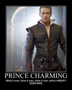Can you be my Prince Charming!  LOVE this show! #once upon a time