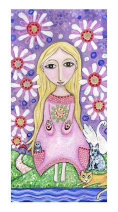 Metaphysical Gifts, Cards, Wrap and Crystals   Life Is A Gift Shop - The Healer Print - Whimsical Art by Lindy Longhurst , $20.00 (http://lifeisagiftshop.com/the-healer-print-whimsical-art-by-lindy-longhurst/)