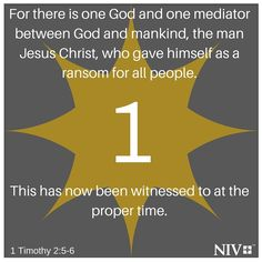 NIV Verse of the Day: 1 Timothy 2:5-6