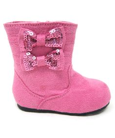 Love these adorable Bow Boots on #zulily today!  http://www.zulily.com/invite/jpalmer893/p/pink-ice-bow-boot-27945-2069523.html?tid=social_pinref_shareviaicon_na=2069523