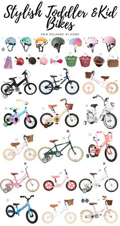 Stylish toddler bikes and kids bikes for any kid on any budget. Check out this post to find a bike, a helmet, and all the accessories you will need. #bikes #toddlerbike #kidsbikes My Baby Girl, Boy Or Girl, Baby Baby, Baby Girls, Toddler Girl Bike, Pink Helmet, Pink Bike, Baby Boy Nurseries, Sweet Girls