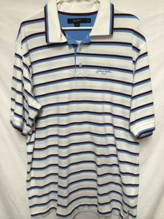 SEAN JOHN MENS XXL 2XL KNIT POLO SHIRT BURGUNDY & BLUE STRIPES HIP HOP CASUAL #SEANJOHN #PoloRugby