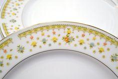 Vintage Garden Bouquet Dinner Plate Fine China by PanchosPorch