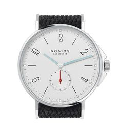 The Ahoi, Nomos鈥檚 first divers鈥?style watch, is water-resistant up to 200 meters.