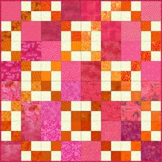 Easy Double Four Patch QuiltPattern