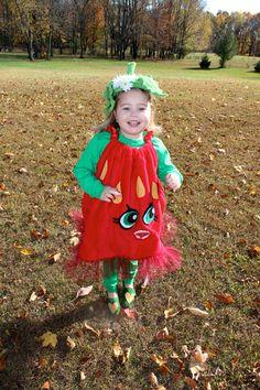 "Shopkins inspired costume  ""Strawberry kiss"" season 1"