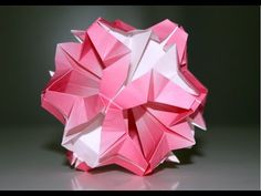 Origami - Kusudama fleur - Flower Kusudama