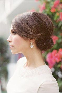 sleek elegant wedding up do - brides of adelaide