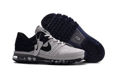 Outlet Nike Air Max 2017 Men Grey Dark Blue Best Sale - $67.95