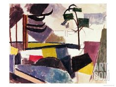 Unfinished Landscape with Tree Branches Giclee Print by Roger de La Fresnaye at Art.com