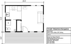 Floor Plan, Elevations, and photos of the Waterford Bungalow In A Box Small House Plans, House Floor Plans, Large Homes, Backyard Patio, Amazing Gardens, Bungalow, Cottage, How To Plan, Patio Ideas