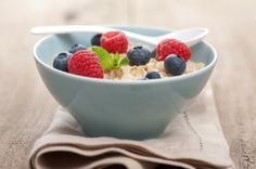 Find Porridge Fresh Berries stock images in HD and millions of other royalty-free stock photos, illustrations and vectors in the Shutterstock collection. Healthy Dishes, Healthy Foods To Eat, Food Dishes, Healthy Eating, Healthy Snacks, Low Carb Recipes, Healthy Recipes, Delicious Recipes, Power Breakfast