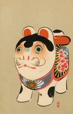 Japanese Toys, Vintage Japanese, Japanese Folklore, Muse Art, Japanese Graphic Design, Japan Art, Chinese Art, Art Museum, Art Projects
