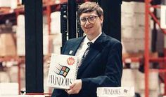 It'd be criminal to not have a photo of Bill Gates in a cheesy pose and big glasses. The image links to a V3/IBM micro site about the history of IT.