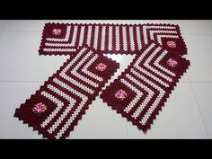 Jogo listrado em crochê tapete pequeno - YouTube Crochet Placemats, Crochet Table Runner, Crochet Coaster Pattern, Crochet Patterns, Filet Crochet, Irish Crochet, Diy Crafts Crochet, Crochet Toddler, Crochet Videos