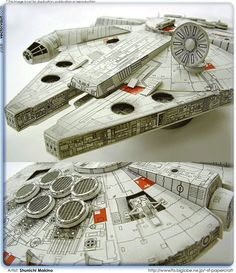 We're not quite there yet but once the kids are older, the Star Wars indoctrination will begin. Saving this Millennium Falcon template for when the time comes!