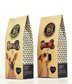 packaging edge dog food pattern window thought bubble speech