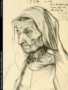 (Albrecht Durer) - Портрет матери, 1514