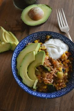 Salsa Rice & Beans with Avocado and Garden Vegetables