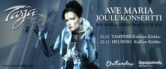 Ten years after her first Christmas tour, Tarja Turunen will present this December two special events, introducing something new and different in her traditional concerts.   Tarja's Ave Maria- album, recorded in the Lakeuden Ristin Kirkko in Seinäjoki, Finland, is scheduled to be released in Autumn 2015.
